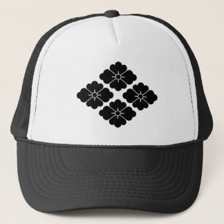 Four flower water caltrop trucker hat