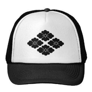 Four flower water caltrop trucker hat