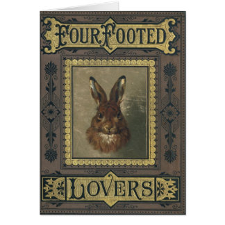 Four Footed Lovers Greeting Card