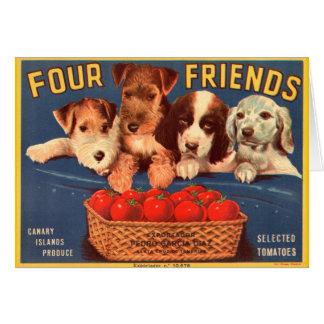 Four Friends Vintage Tomato Crate Label Card