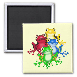 Four Frogs Tshirts and Gifts Square Magnet