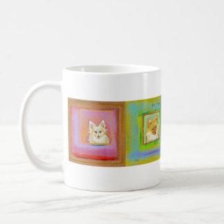 Four fun dogs - each with a suggestion coffee mug