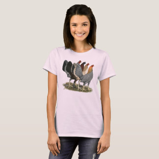 Four Gamefowl Hens T-Shirt