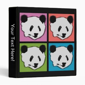 Four Giant Panda Bears 3 Ring Binder
