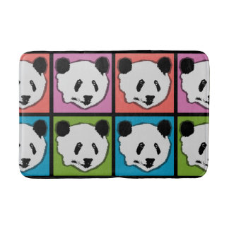 Four Giant Panda Bears Bath Mat