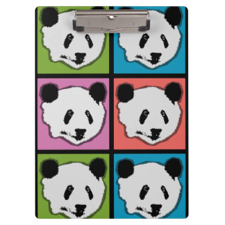 Four Giant Panda Bears Clipboard