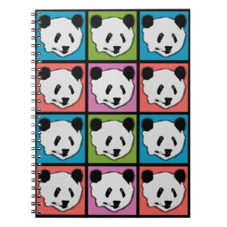 Four Giant Panda Bears Spiral Notebook