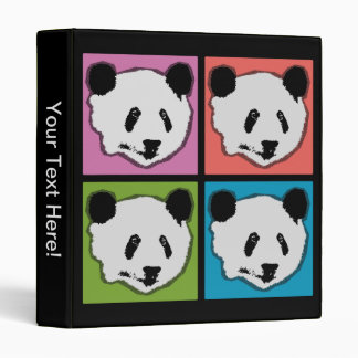 Four Giant Panda Bears Vinyl Binder