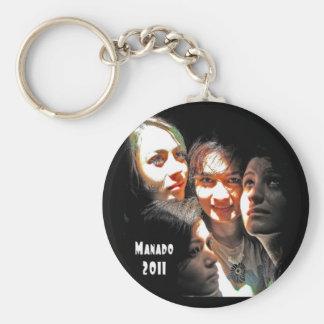 Four Girls in Manado Keychain