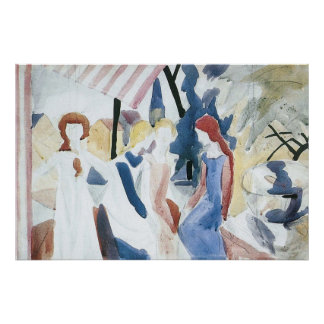 Four girls on Altane by August Macke Posters