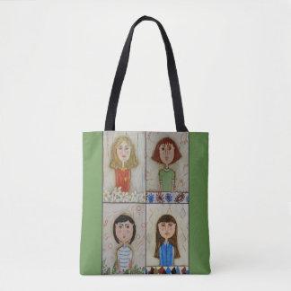Four girls tote bag