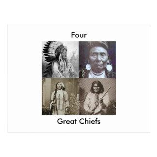 Four Great Chiefs Postcard