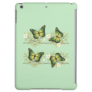 Four green butterflies case for iPad air