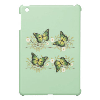 Four green butterflies cover for the iPad mini