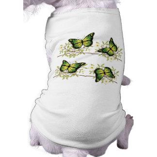 Four green butterflies shirt