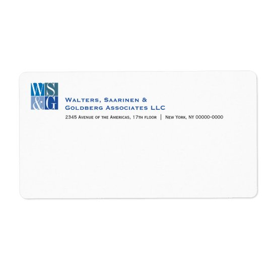 Four Grid Monogram Avery Shipping Label