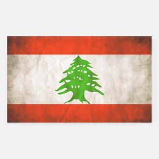 FOUR Grungy Lebanon Flag