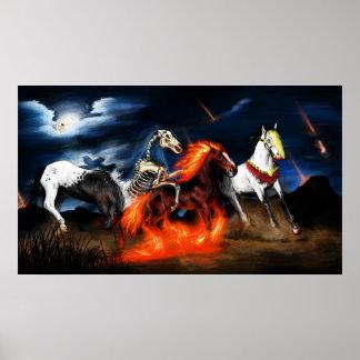 four horse of apocalypse bible biblical poster
