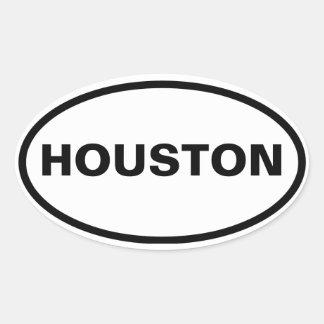 FOUR Houston Oval Sticker