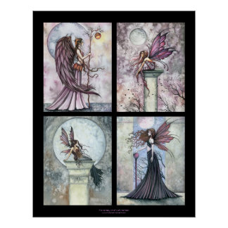 Four in One Autumn Gothic Fairy Poster