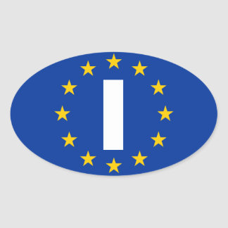 "FOUR Italy ""I"" European Union Flag Oval Sticker"