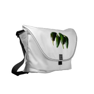 Four Jalapeno Peppers Green Photograph Commuter Bag
