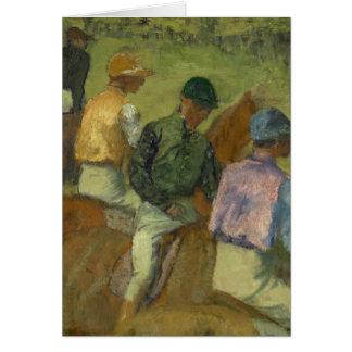 Four Jockeys Card