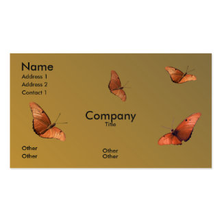 Four Julia Butterflies Pack Of Standard Business Cards