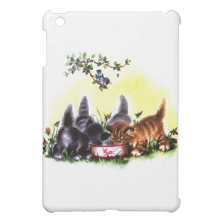 Four Kittens Feasting Artwork Cover For The iPad Mini