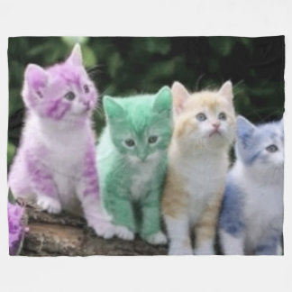FOUR KITTENS FLEECE BLANKET