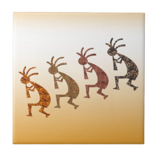 Four Kokopelli Tile