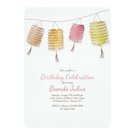 Four Lanterns Invitation