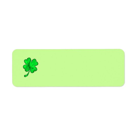 FOUR LEAF CLOVER Address Label