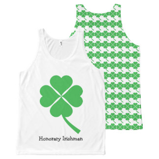 Four-leaf clover All-Over-Print tank top
