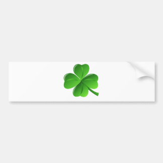 Four Leaf Clover Bumper Sticker
