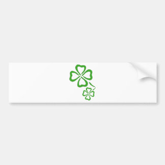 Four-Leaf-Clover Bumper Sticker