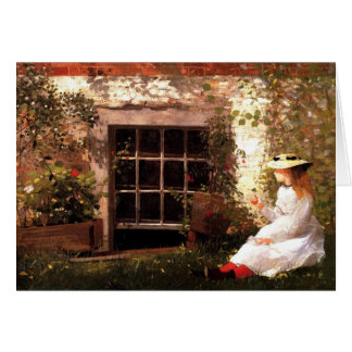 Four-Leaf Clover by Winslow Homer Note Card