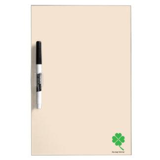 Four-leaf clover dry erase board