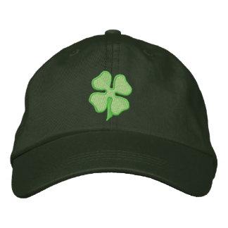 Four- Leaf Clover Embroidered Baseball Caps