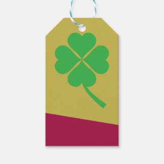 Four-leaf clover gift tags