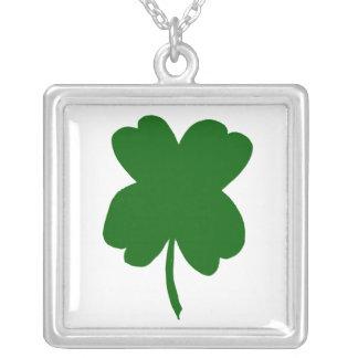 Four leaf clover, green clover, St. Patrick's Day Pendants