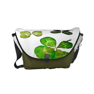 Four leaf clover happy messenger bags