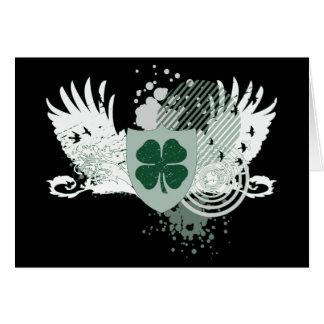 four leaf clover. hi-fi. card