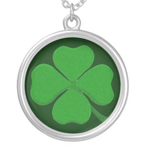 Four Leaf Clover - Irish Shamrock Custom Necklace