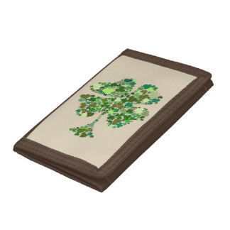 Four Leaf Clover Irish Shamrock Wallet
