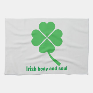 Four-leaf clover kitchen towel