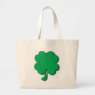 Four-Leaf-Clover Large Tote Bag