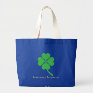 Four-leaf clover large tote bag