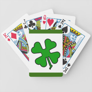 Four Leaf Clover (Lucky) Bicycle Playing Cards