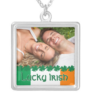 Four Leaf Clover Lucky Irish Photo Necklace